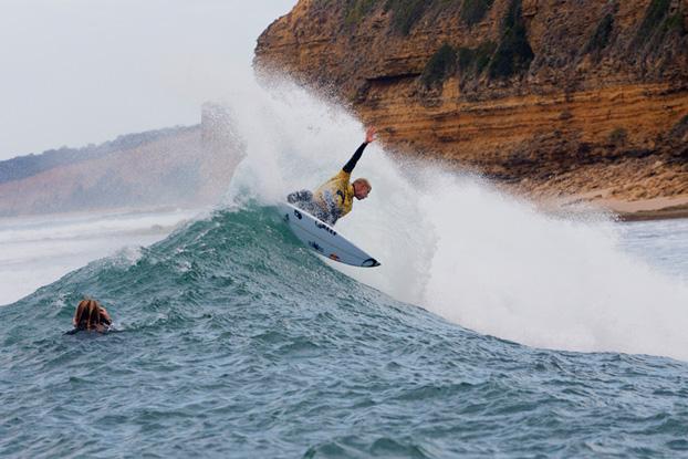 Mick Fanning, Rip Curl Pro 2012, Bells Beach, Austrália. Foto: © ASP / Kirstin.