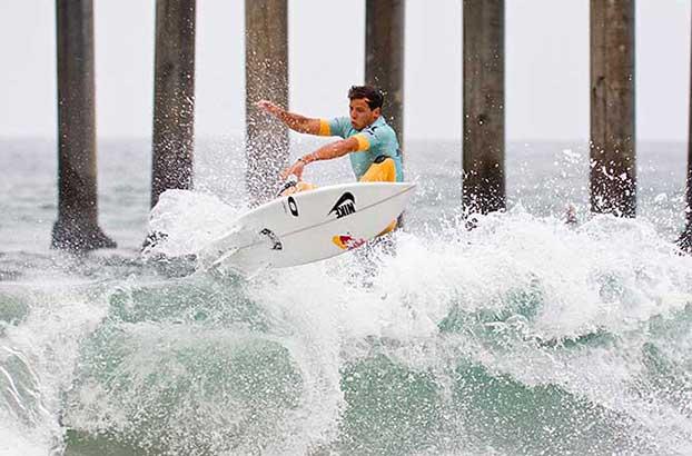 Julian Wilson, US Open of Surfing, Huntington Beach, Califórnia (EUA). Foto: Divulgação.