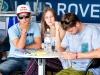 Adriano de Souza, Patrícia Eicke e Alejo Muniz, Quiksilver Pro 2013, Rainbow Bay, Austrália. Foto: © ASP / Will H-S.