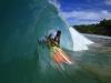 Jejé mostra toda sua habilidade de top mundial nos tubos de Noronha (PE). Foto: Divulgação.