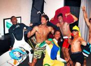 Jadson André, Jean da Silva, Filipe Toledo, Alex Ribeiro, Peterson Crisanto e Alejo Muniz. Foto: Arquivo Pessoal.