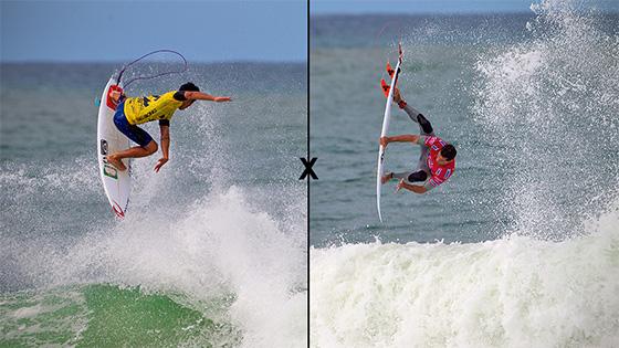 Gabriel Medina X Adriano de Souza. Quem levou a melhor no WCT Brasil? Foto: © ASP / Kirstin.