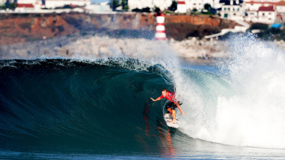 Taj Burrow, Supertubos, Peniche, Portugal. Foto: © ASP / Cestari.